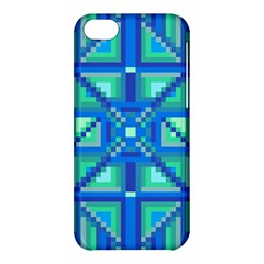 Grid Geometric Pattern Colorful Apple iPhone 5C Hardshell Case