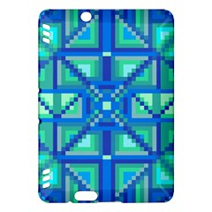 Grid Geometric Pattern Colorful Kindle Fire Hdx Hardshell Case
