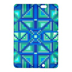 Grid Geometric Pattern Colorful Kindle Fire HDX 8.9  Hardshell Case