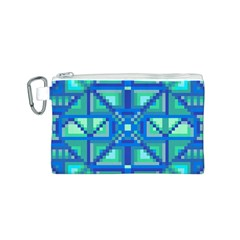 Grid Geometric Pattern Colorful Canvas Cosmetic Bag (s)