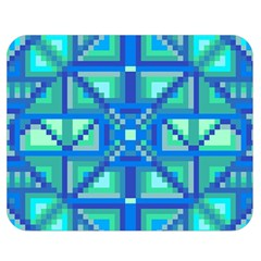 Grid Geometric Pattern Colorful Double Sided Flano Blanket (Medium)
