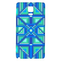 Grid Geometric Pattern Colorful Galaxy Note 4 Back Case