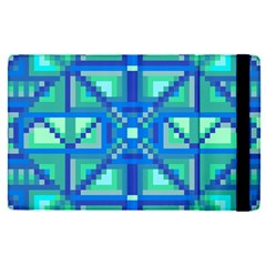Grid Geometric Pattern Colorful Apple Ipad Pro 9 7   Flip Case
