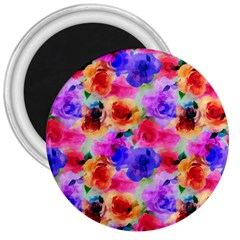 Floral Pattern Background Seamless 3  Magnets