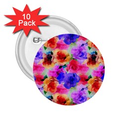 Floral Pattern Background Seamless 2.25  Buttons (10 pack)