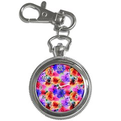 Floral Pattern Background Seamless Key Chain Watches