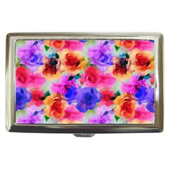 Floral Pattern Background Seamless Cigarette Money Cases