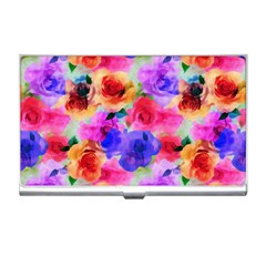 Floral Pattern Background Seamless Business Card Holders