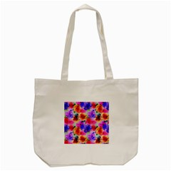 Floral Pattern Background Seamless Tote Bag (cream)