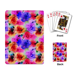 Floral Pattern Background Seamless Playing Card