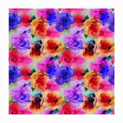 Floral Pattern Background Seamless Medium Glasses Cloth (2-Side)