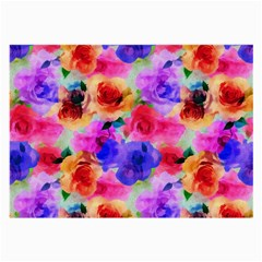 Floral Pattern Background Seamless Large Glasses Cloth (2-Side)
