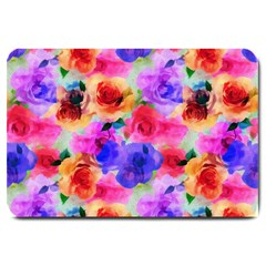 Floral Pattern Background Seamless Large Doormat
