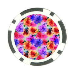 Floral Pattern Background Seamless Poker Chip Card Guard