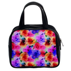 Floral Pattern Background Seamless Classic Handbags (2 Sides)