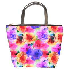 Floral Pattern Background Seamless Bucket Bags