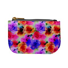Floral Pattern Background Seamless Mini Coin Purses