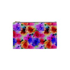 Floral Pattern Background Seamless Cosmetic Bag (Small)