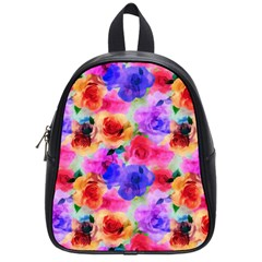 Floral Pattern Background Seamless School Bags (small)