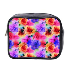 Floral Pattern Background Seamless Mini Toiletries Bag 2-Side