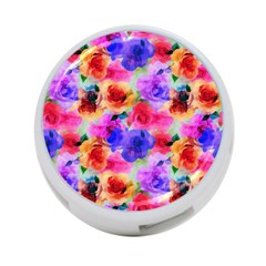 Floral Pattern Background Seamless 4 Port Usb Hub (two Sides)