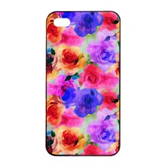 Floral Pattern Background Seamless Apple Iphone 4/4s Seamless Case (black)