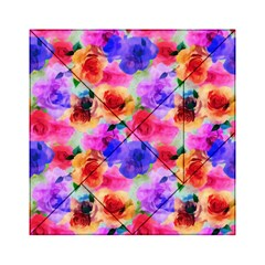 Floral Pattern Background Seamless Acrylic Tangram Puzzle (6  x 6 )