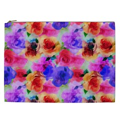 Floral Pattern Background Seamless Cosmetic Bag (xxl)