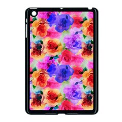 Floral Pattern Background Seamless Apple Ipad Mini Case (black)