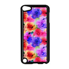 Floral Pattern Background Seamless Apple Ipod Touch 5 Case (black)