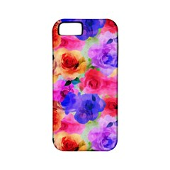 Floral Pattern Background Seamless Apple Iphone 5 Classic Hardshell Case (pc+silicone)