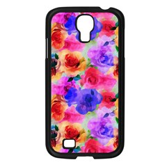 Floral Pattern Background Seamless Samsung Galaxy S4 I9500/ I9505 Case (black)