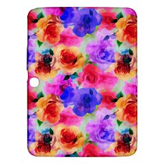 Floral Pattern Background Seamless Samsung Galaxy Tab 3 (10 1 ) P5200 Hardshell Case