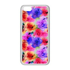 Floral Pattern Background Seamless Apple Iphone 5c Seamless Case (white)