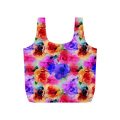 Floral Pattern Background Seamless Full Print Recycle Bags (S)