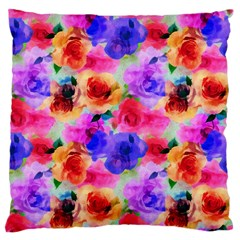 Floral Pattern Background Seamless Large Flano Cushion Case (one Side)