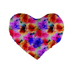 Floral Pattern Background Seamless Standard 16  Premium Flano Heart Shape Cushions