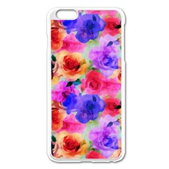 Floral Pattern Background Seamless Apple Iphone 6 Plus/6s Plus Enamel White Case