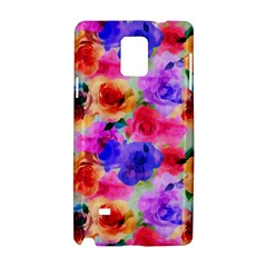 Floral Pattern Background Seamless Samsung Galaxy Note 4 Hardshell Case