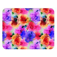 Floral Pattern Background Seamless Double Sided Flano Blanket (large)