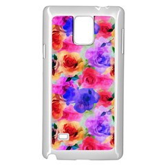 Floral Pattern Background Seamless Samsung Galaxy Note 4 Case (white)