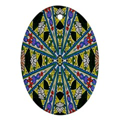 Kaleidoscope Background Ornament (Oval)
