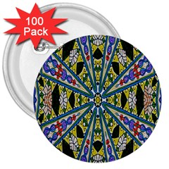 Kaleidoscope Background 3  Buttons (100 pack)