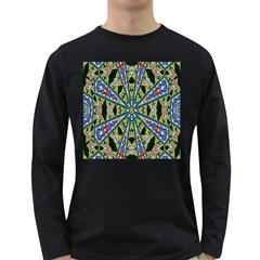 Kaleidoscope Background Long Sleeve Dark T-Shirts