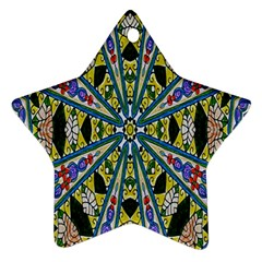Kaleidoscope Background Star Ornament (Two Sides)