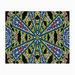 Kaleidoscope Background Small Glasses Cloth (2 Side)