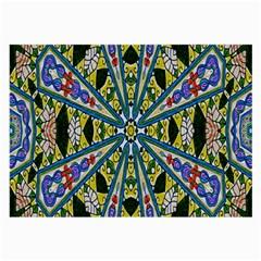Kaleidoscope Background Large Glasses Cloth
