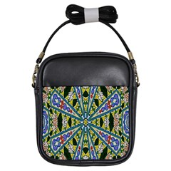 Kaleidoscope Background Girls Sling Bags