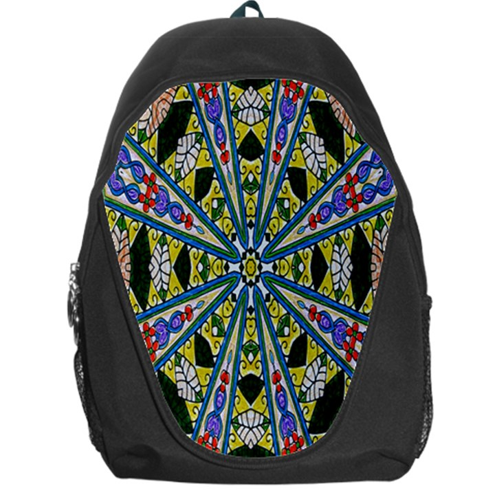 Kaleidoscope Background Backpack Bag