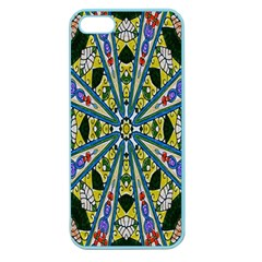 Kaleidoscope Background Apple Seamless Iphone 5 Case (color)